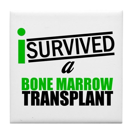 I Survived a Bone Marrow Transplant Tile Coaster