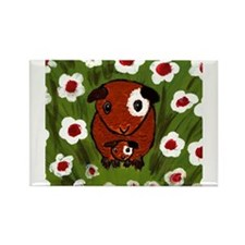 guinea_pig_q001 Rectangle Magnet (100 pack)