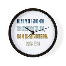 Psalms 37:23 Wall Clock