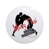 Muay Thai Solves Everything Ornament (Round)