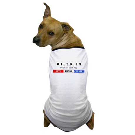 1.20.13 - Obama's Last Day Dog T-Shirt
