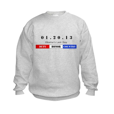 1.20.13 - Obama's Last Day Kids Sweatshirt