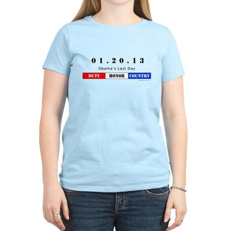 1.20.13 - Obama's Last Day Women's Light T-Shirt