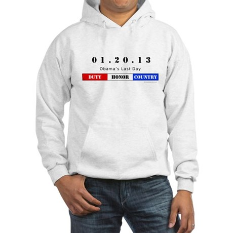 1.20.13 - Obama's Last Day Hooded Sweatshirt