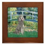 Bridge/Std Poodle silver) Framed Tile