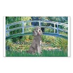 Bridge/Std Poodle silver) Sticker (Rectangle 50 pk