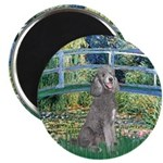 Bridge/Std Poodle silver) Magnet