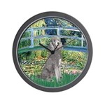 Bridge/Std Poodle silver) Wall Clock