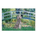 Bridge/Std Poodle silver) Postcards (Package of 8)