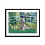 Bridge/Std Poodle silver) Framed Panel Print