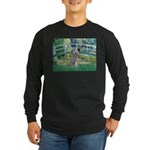 Bridge/Std Poodle silver) Long Sleeve Dark T-Shirt