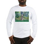 Bridge/Std Poodle silver) Long Sleeve T-Shirt