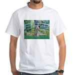 Bridge/Std Poodle silver) White T-Shirt
