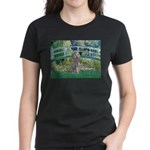 Bridge/Std Poodle silver) Women's Dark T-Shirt