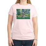 Bridge/Std Poodle silver) Women's Light T-Shirt