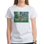 Bridge/Std Poodle silver) Women's T-Shirt