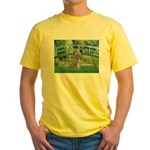 Bridge/Std Poodle silver) Yellow T-Shirt