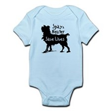 Save Lives Spay & Neuter (Dog) Infant Bodysuit