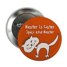 """Neuter Is Cuter 2.25"""" Button"""