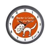 Neuter Is Cuter Wall Clock
