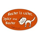 Neuter Is Cuter  Aufkleber