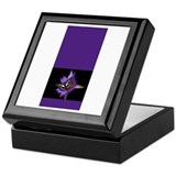blackwhitebutterfypurpleflowe Keepsake Box