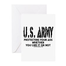 US ARMY PROTECTING YOUR ASS Greeting Cards (Pk of