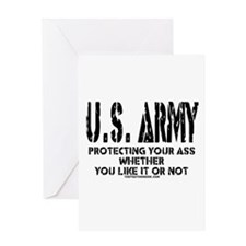 US ARMY PROTECTING YOUR ASS Greeting Card