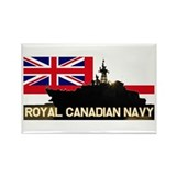 Canadian Navy Rectangle Magnet