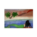 Sunset Mermaid Rectangle Magnet