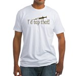 Funny Phlebotomy & Nursing Fitted T-Shirt