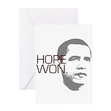 """Obama """"Hope Won."""" Greeting Card"""