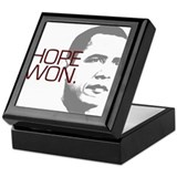 "Obama ""Hope Won."" Keepsake Box"
