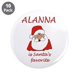 "Alanna Christmas 3.5"" Button (10 pack)"