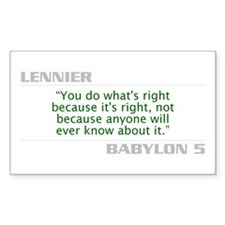 "Lennier ""Do What is Right"" Decal"