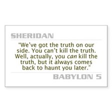 "Sheridan ""Can't Kill the Truth"" Decal"