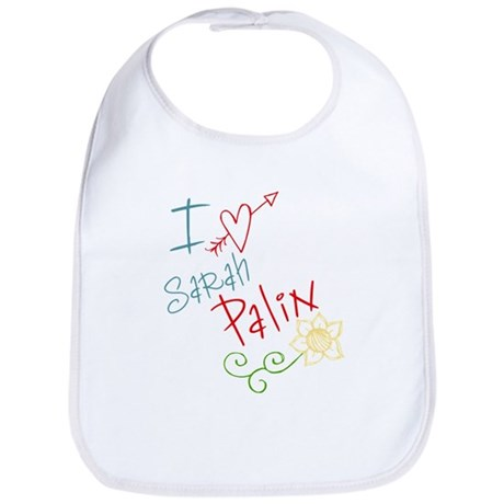 I love heart Sarah Palin Bib