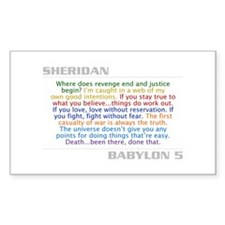 Sheridan Quote Combo Rectangle Decal