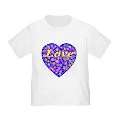 LOVE Yellow StarBurst Toddler T-Shirt