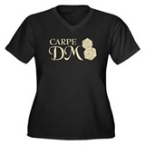 Carpe DM Women's Plus Size V-Neck Dark T-Shirt