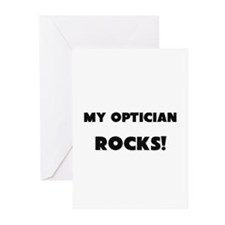MY Optician ROCKS! Greeting Cards (Pk of 10)