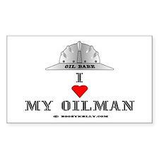 I Love My Oilman Rectangle Decal