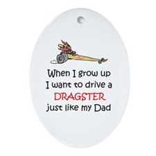 WIGU Dragster Dad Oval Ornament