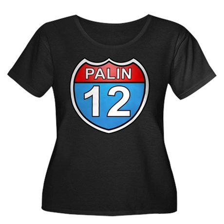 Sarah Palin '12 Women's Plus Size Scoop Neck Dark