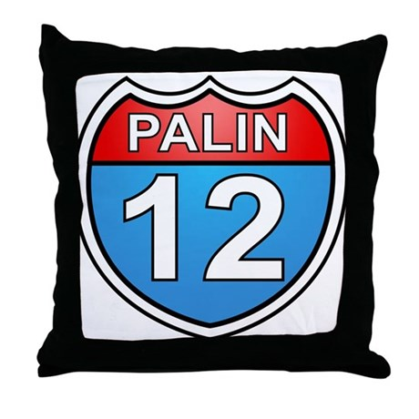 Sarah Palin '12 Throw Pillow