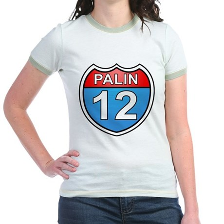 Sarah Palin '12 Jr. Ringer T-Shirt