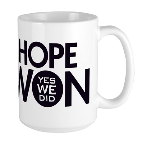 Hope Won Large Mug
