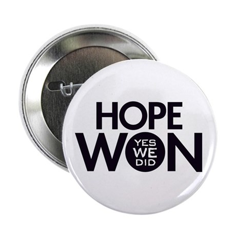 "Hope Won 2.25"" Button"