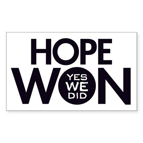 Hope Won Rectangle Sticker 10 pk)