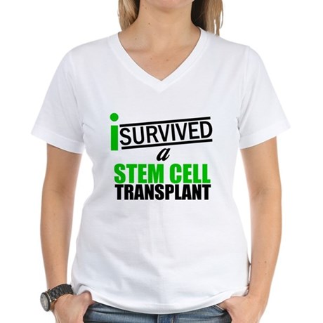 StemCellTransplant Survivor Women's V-Neck T-Shirt